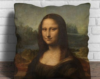 Mona Lisa Cushion Cover - 18x18 inches