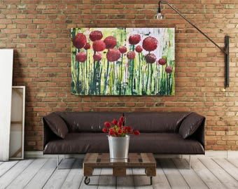 Spring Flowers - 52x34 inches - Acrylic