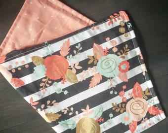 Modern Floral Baby Burp Cloth