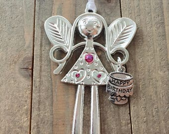 Happy Birthday Angel, Gift for Mom, daughter, grandson, sister, granddaughter, dad, brother, friend,  happy birthday ornament,