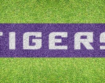 """Louisiana State """"Tigers"""" – Lawn Stencil Kit"""