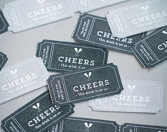 Wedding/Party drink tickets, many colours available, wedding, party, anniversary