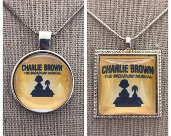 Broadway Musical Charlie Brown pendant.Charlie Brown musical jewelry.Broadway play Charlie Brown