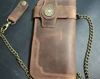 Leather wallet men/leather wallet/bifold wallet/brown leather wallet/small leather wallet