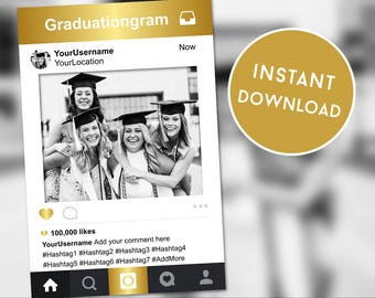 Instagram Frame, Graduation Instagram Photo Booth Prop, Graduation Ideas, Instagram Template, Instagram Photo Booth, Photo Booth Props