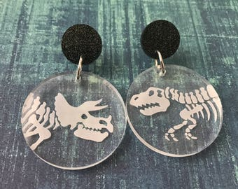 Dinosauria Dangle Earrings