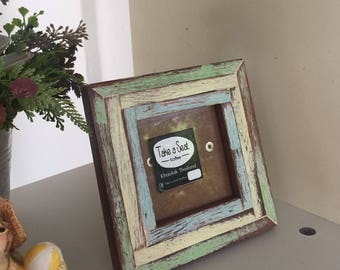 Free Shipping Vintage Style Wooden 3x3 Picture Frame