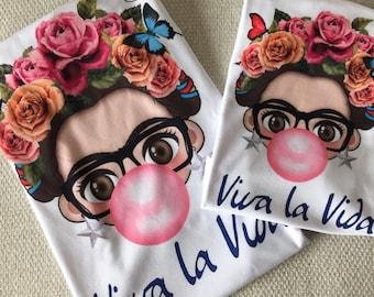 Playera Frida Kahlo, con diseño divertido,chic, fashion. Matching Mamá e hija, perfecto para regalo, día especial, cumpleaños, lucir estilo