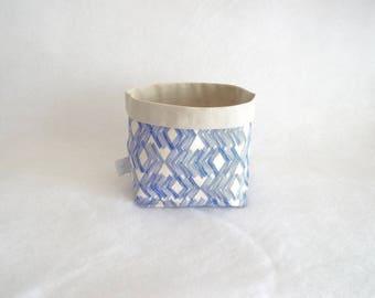 Blue and ecru Ugo storage basket