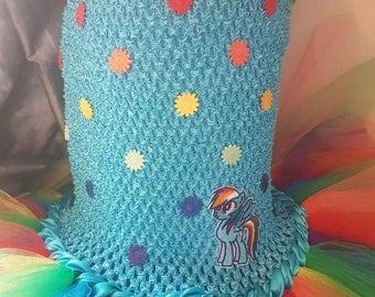 Rainbow Dash dress my little pony tutu dress Rainbow Dash tutu dress. birthday dress party  rainbow my little pony dress  costume MLP dress