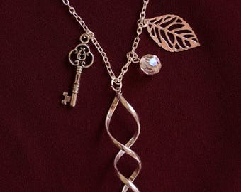 """Nice mid silver necklace long """"Twist"""""""