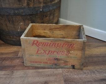 Vintage Remington Express Wood Crate
