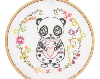 Circle - PANDA - Panda Sacha Embroidery Kit