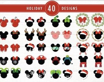 Disney Christmas SVG Bundle | Christmas Mickey SVG Pack | Christmas Minnie SVG Set | Disney Holiday Svg | Holiday Mickey Mouse Svg Cut File