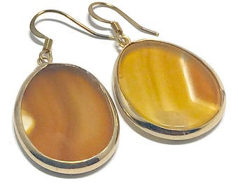 Genuine Agate Dangle Earrings