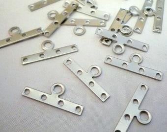 Set of 20 4 holes - Metal - 19x8mm connectors