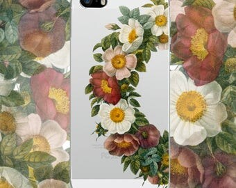 Iphone 6 clear case Iphone 7 plus case Iphone 6 clear case flower Iphone 6s case IPhone case Samsung Galaxy S7 S5 S6 transparent case