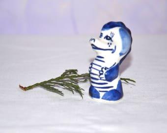 "Gzhel Russian Porcelain Figurine,Porcelain figurine ""Dragon"",Gzhel hand made,Hand painted Souvenirs,Ceramic figurine,Home Decor,Collectible,"