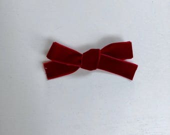 Red Velvet Schoolgirl Bow