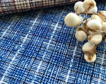 2m Hill Tribe Fabric, Vintage Handspun Handloom Woven Cotton, Indigo Fabric, Batik Fabric Textiles, Designer Fabric, Craft Fabric #B17