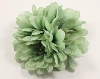 Light Green Hair Flower Duo