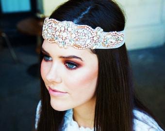 Grace Tulle Bohemian Headpiece - Short Version