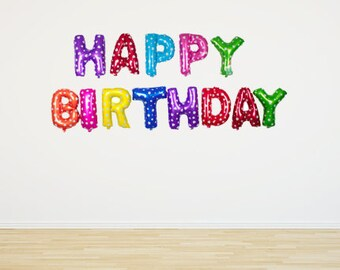 "16"" Happy Birthday Balloons - Multi Color"