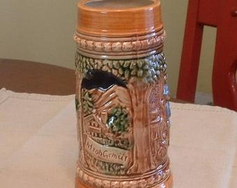Vintage  Japanese Decorative Beer Stein    Made in Japan