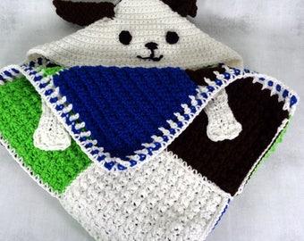 toddler blanket - hooded animal blanket - hooded blanket - child blanket - throw blanket - puppy dog - Easter gift - birthday gift for boy