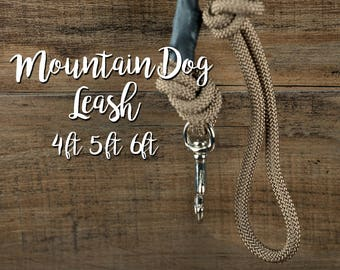 Mountain Rope Dog Leash - Outdoor Dog Leash - 4ft,5ft,6ft Leash - Mountain Dog Leash