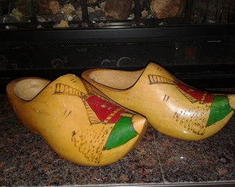 Wooden Clogs Made in Holland Vintage
