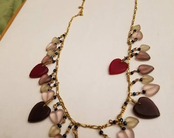 vintage Pididly Links puffy hearts necklace
