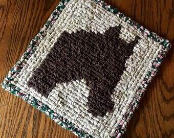 Locker Hook Horse Table Mat / Trivet / Wall Hanging