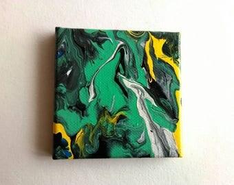 Mini Abstract Painting | Canvas Art | Tiny Art | Original Art | Decor | Modern Art | Painting | Small Art | Abstract Art | Miniature Art
