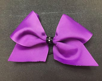 Purple Cheer Bow