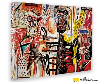 Modern paintings-Jean Michel Basquiat-METRO-Yellow BUS