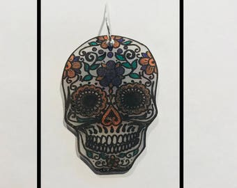 Dia de las Muertos sterling silver handcrafted earrings