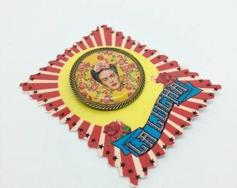 Frida Kahlo Amarillo brooch