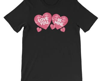 Valentines Day TShirt Men Women Love You Be Mine Heart Gift
