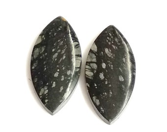 Picasso Jasper Marquise Pair Cabochon,Size- 26x12 ,MM,Natural Picasso Jasper, AAA,Quality  Loose Gemstone, Smooth Cabochons.