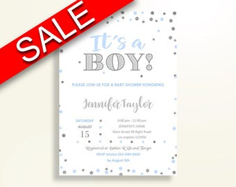 Invitation Baby Shower Invitation Blue And Silver Baby Shower Invitation Blue Silver Baby Shower Blue And Silver Invitation pdf jpg OV5UG