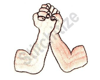 Arm Wrestling - Machine Embroidery Design, Arms