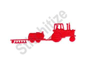 Tractor And Seeder - Machine Embroidery Design, Farming, Agriculture
