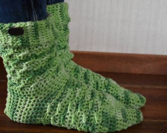 Crochet winter socks