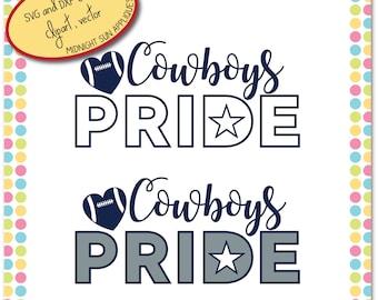 Dallas Cowboys SVG,DXF,clipart, Cowboys Pride svg, dallas cowboys vinyl cut, cowboys cut file for cricut, silhouette cameo