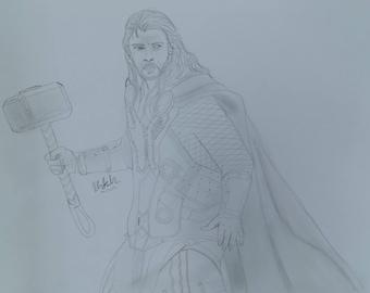 Thor Pencil Drawing