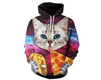 Cat Hoodie, Cat, Cat Hoodies, Animal Prints, Animal Hoodie, Animal Hoodies, Cats, Hoodie Cat, Hoodie, 3d Hoodie, 3d Hoodies - Style 7