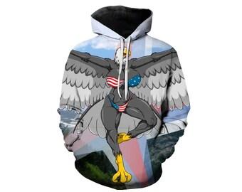 Eagle Hoodie, Eagle, Eagle Hoodies, Animal Prints, Animal Hoodie, Animal Hoodies, Eagles, Hoodie, 3d Hoodie, 3d Hoodies, Usa Hoodie Style 15