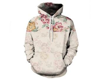 Flower Hoodie, Flowers Hoodie, Floral Hoodie, Flower Sweatshirt, Hoodie Pattern, Pattern Hoodie, Graphic Hoodie, Hoodie, 3d Hoodie, Style 1