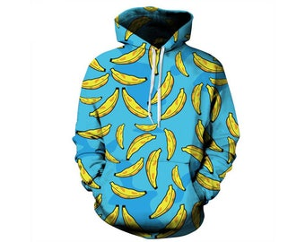 Junk Food, Fast Food, Food Clothes, Junk Food Clothing, Food Hoodie, Food Clothing, Hoodie Pattern, Banana Print, Hoodie, 3d Hoodie Style 2